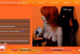 Twitch Streamer Jenna Lynn Meowri Flashing Her Cleavage and Ass