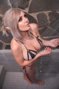 Jessica Nigri Nude Shower Lewd Photos