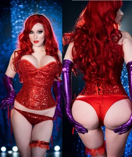 Angie Griffin Sexy Cosplay Jessica Rabbit