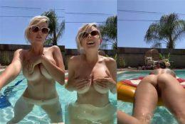 Darshelle Stevens Naked in the Pool Nude Video