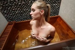 Caroline Zalog Sexy Bath Tease Leaked Video