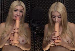 ASMR Maddy Dildo Blowjob Porn Video