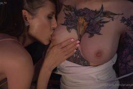 Arianarealtv OnlyFans Lesbian Nipple Sucking Leaked Video