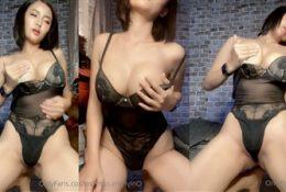 Im Faii Sexy Black Lingerie Teasing Leaked Video