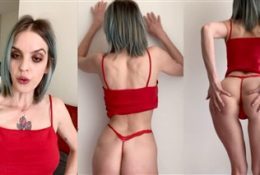 Phoebe Yvette Youtuber Red Thong Nude Video Leaked