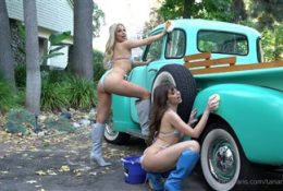 Tana Mongeau and Riley Reid Nude Car Wash Onlyfans Video Leaked