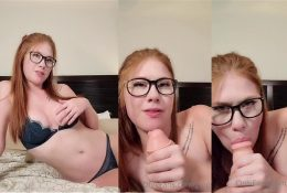 Ginger ASMR Giving You A Relaxing BJ After A Long Day Video Leaked