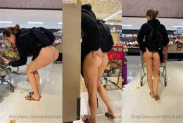 Christina Khalil Shopping Ass Tease Video Leaked