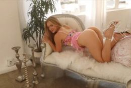 Caroline Zalog Under My Pink Dress POV Leaked Video